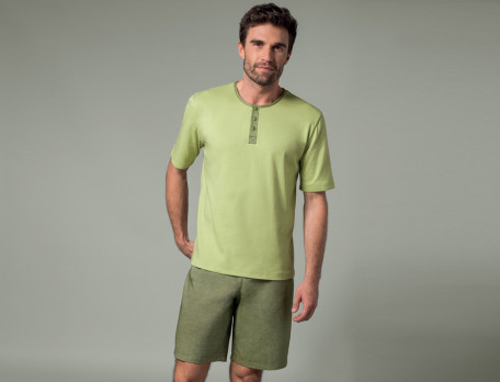 Pyjama Tropische Träume Baumwolle Linvosges