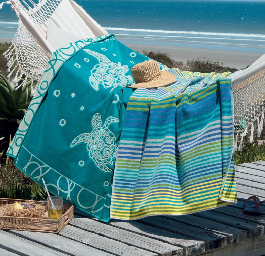 Drap de plage, fouta, serviette de plage