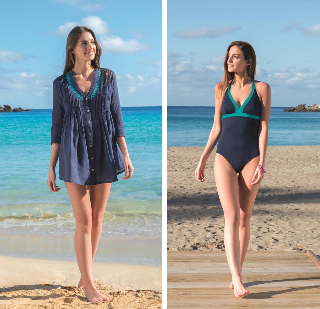 La robe de plage et le maillot de bain par Linvosges