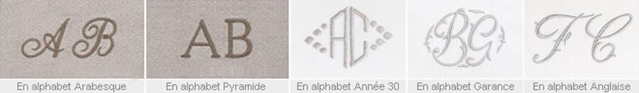 Broderie monogrammes