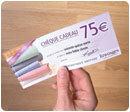 LE CHÈQUE CADEAU DE 75 EUROS